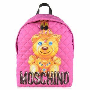 SS17 Quilted Crown Teddy Bear Pink Backpack